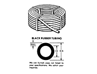 Black Rubber Tubing